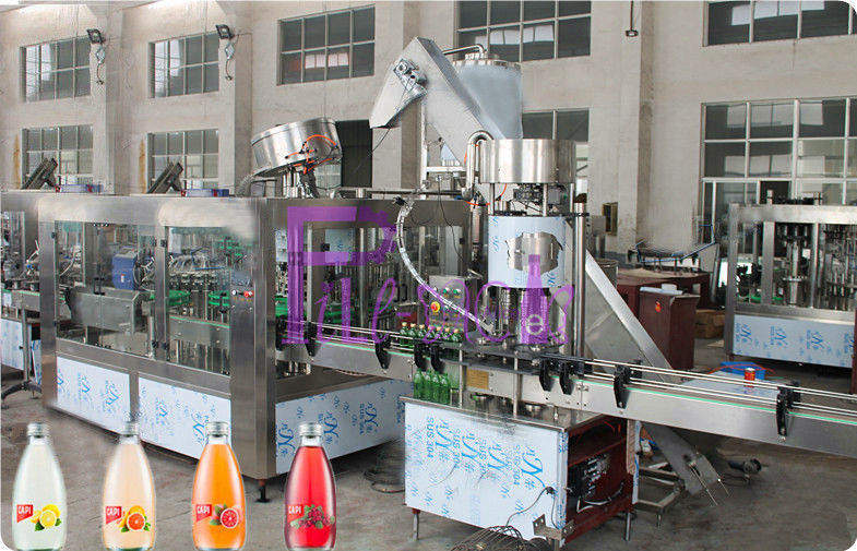Automatic Beverage Juice Hot Filling Machine 3 in 1 For PET / Glass Bottle