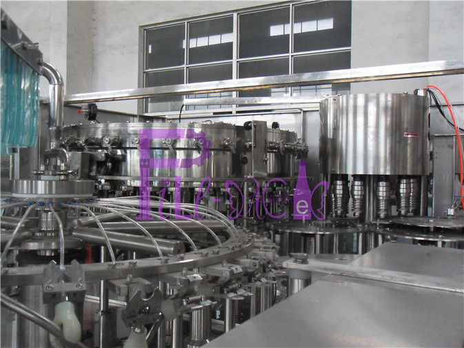 32 Heads 8000 Bottles / Hour Soft Drink Filing Line For PET Bottle